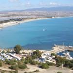 Cagliari, spiaggia del Poetto e il porticciolo turistico di Marina Piccola
